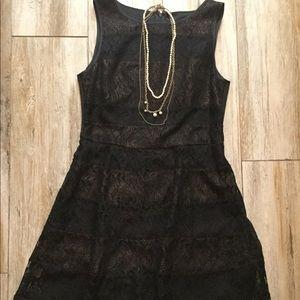 Jessica Simpson black lace a-line dress Medium